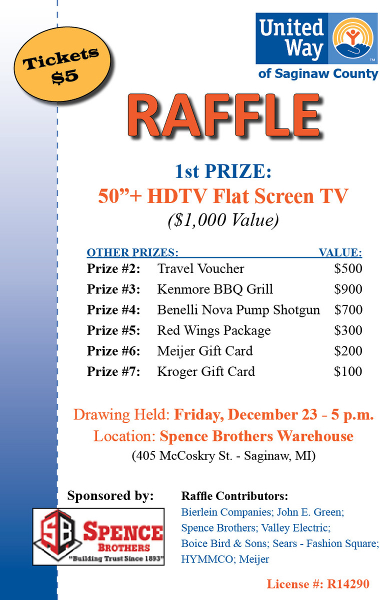 United Way Raffle United Way Of Saginaw County