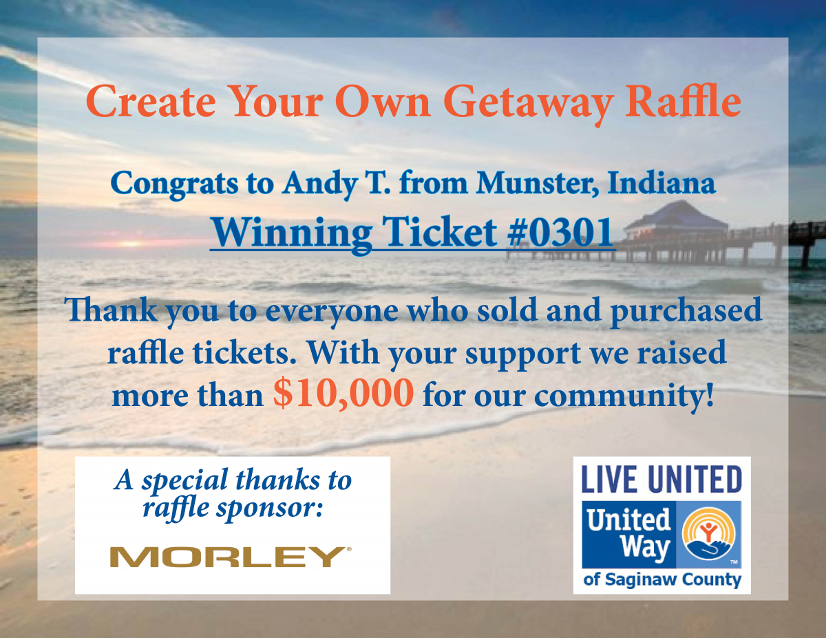 Create Your Own Getaway Raffle | United Way of Saginaw County